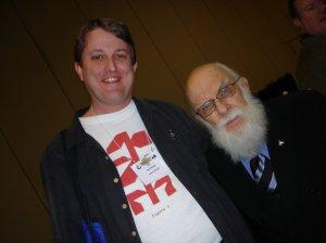 Tim Farley and James Randi at TAM5