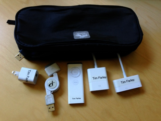 Part of my cable and accessory kit with a bag to keep them organized