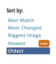 TinEye sort options