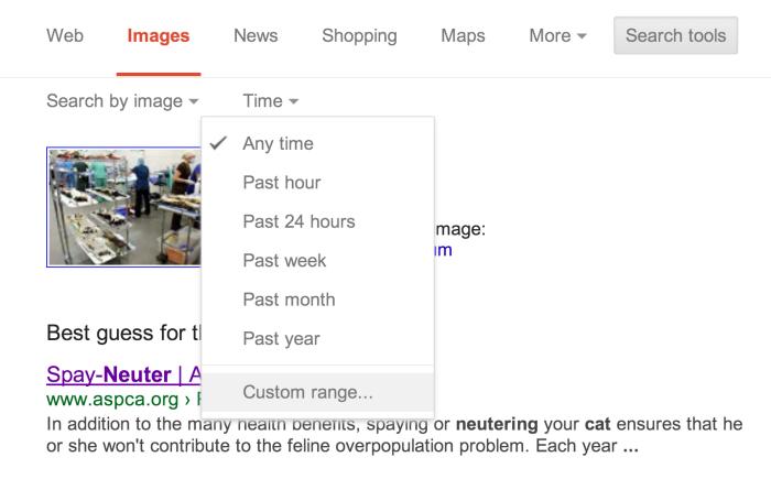 Search Tools   Custom Range...