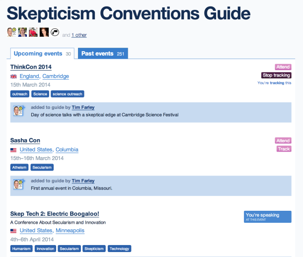 Skepticism Convention Guide screen shot