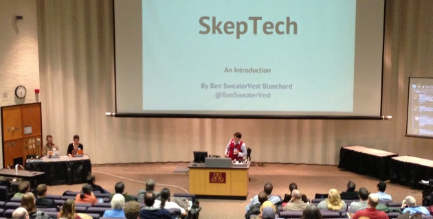 Ben Blanchard introduces SkepTech at last year's event