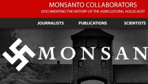 Partial screen shot from the ill-fated Monsanto Collaborators website