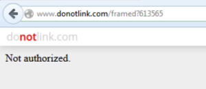 "DoNotLink URL to FoodBabe resulting in a ""Not authorized"" error message"