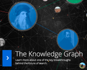 Google Knowledge graph splash screen